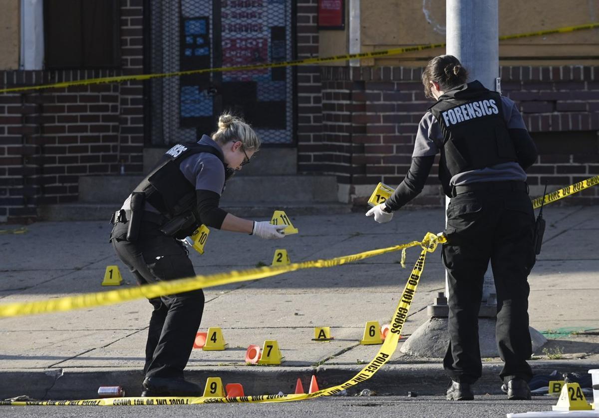 Agentes de la policía de Baltimore, en una imagen de archivo.