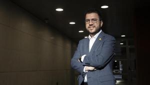 Pere Aragonès, vicepresidente de la Generalitat y candidato por ERC a las elecciones del 14-F.