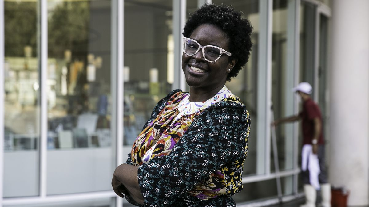 Elvira Dyangani Ose, antes de su primera intervención pública como nueva directora del Macba.