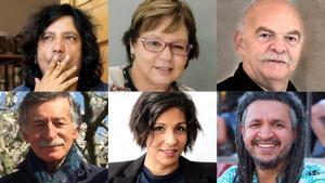 Los escritores Alejandro Zambra, Piedad Bonnett, Martín Caparrós, Mario Satz, Ale Oseguera y Wílmar Cabrera.
