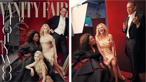 Las polémicas fotos de 'Vanity Fair': a la izquierda, las tres piernas de la actriz Reese Witherspoon y la única de Zendaya. Al lado, tres manos de Oprah Winfrey.