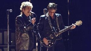 Bob Dylan con Charlie Sexton en el Liceu.