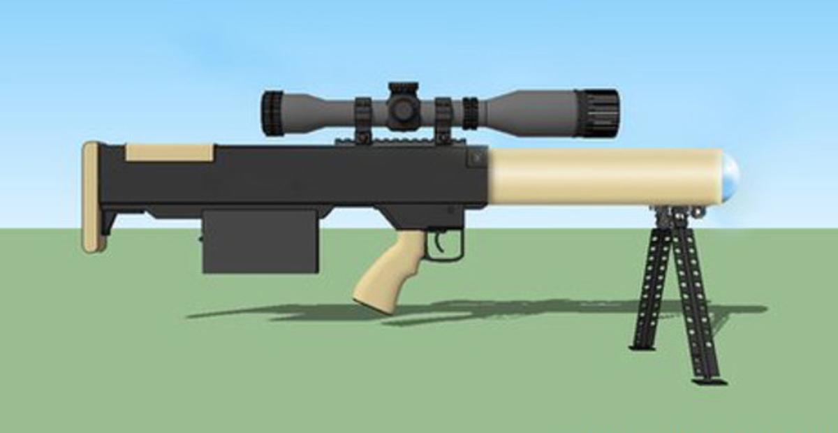 Reproducción de la pistola láser que está probando la policía británica.