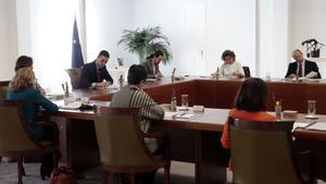 Pedro Sánchez preside el Consejo de Ministros extraordinario sobre el estado de alarma.