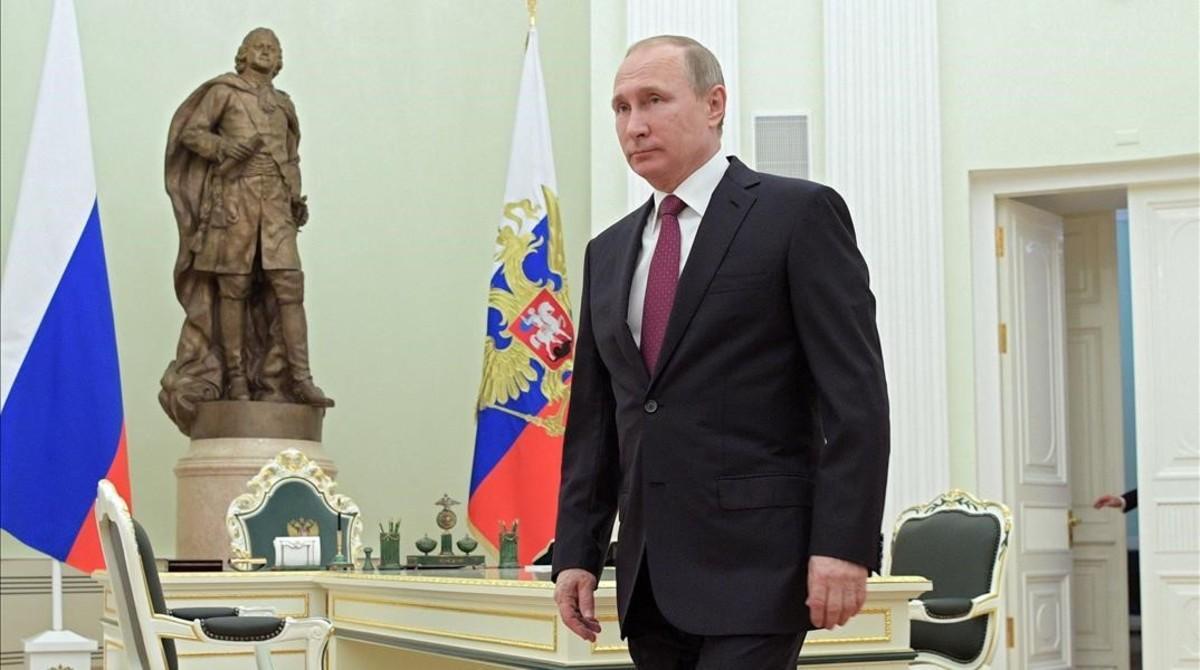 El presidente de Rusia, Vladimir Putin, este martes en el Kremlin.