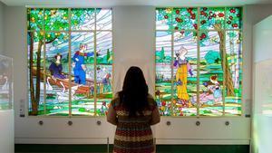Dos de los paneles del tríptico de 'Las damas de Cerdanyola', custodiado por el Museu d'Art de Cerdanyola.