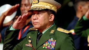 El general golpista biramano Min Aung Hlaing.