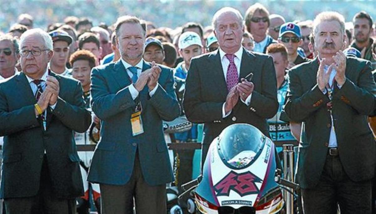 Entregado 8El rey Juan Carlos mostró su pasión por las motos.