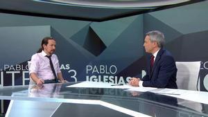 Críticas a Vicente Vallés por una controvertida pregunta a Pablo Iglesias sobre Irene Montero