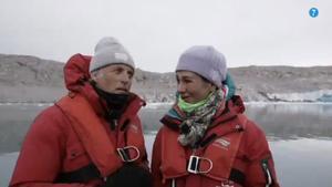 Ana Botín vive en directo el peligroso desprendimiento de un glaciar en 'Planeta Calleja'