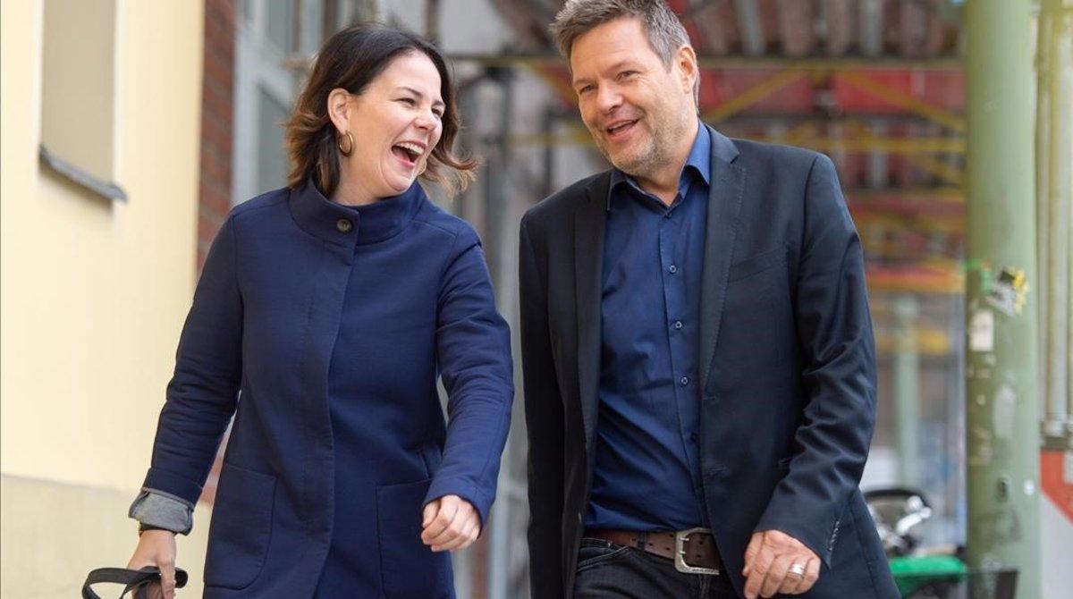 Annalena Baerbock y Robert Habeck, copresidentes de Los Verdes de Alemania.