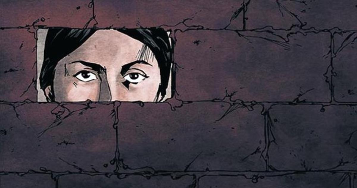 Angustia 8 Fotogramas del filme, que narra cómo un alcalde de Mijas se ocultó de los franquistas durante años en un hueco de la pared de su casa.