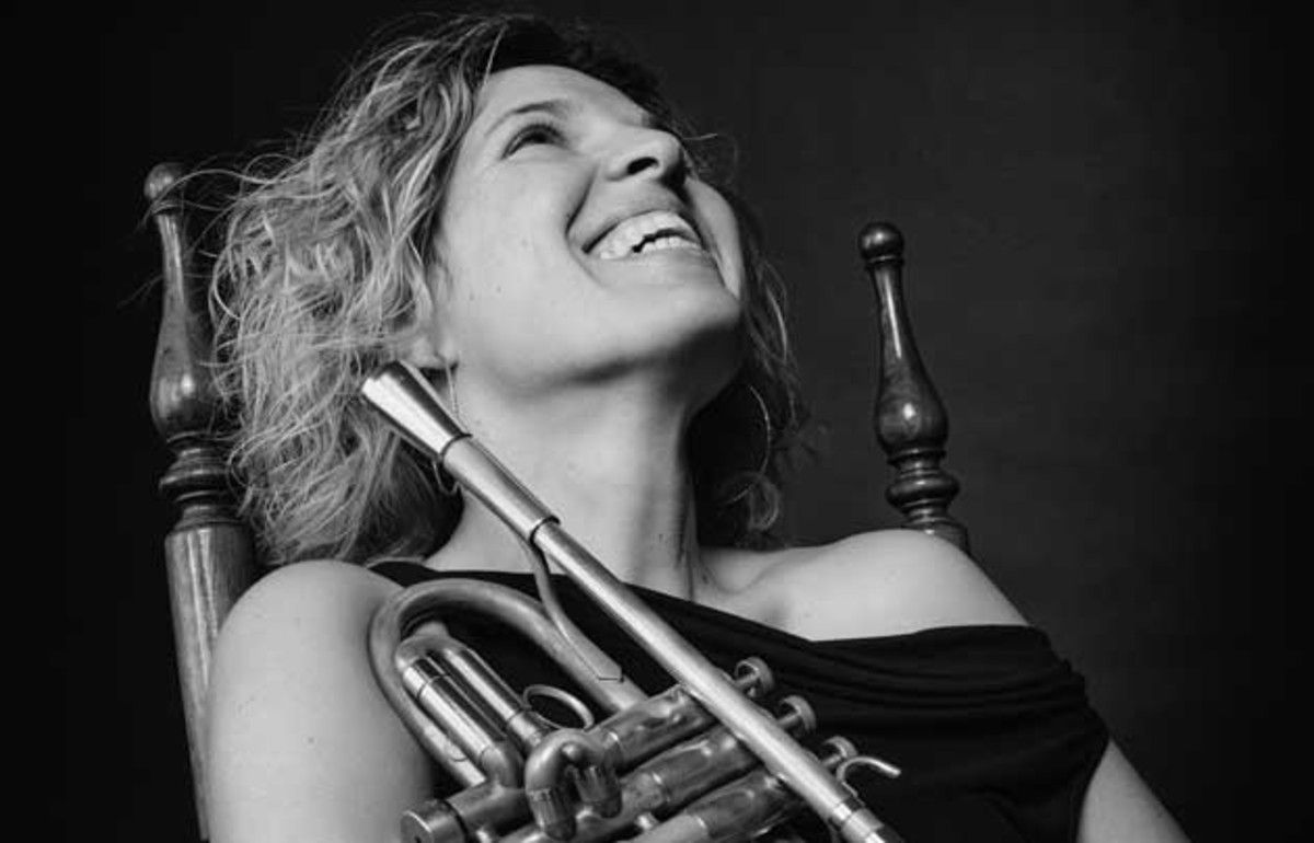 La trompetista Mireia Farrès.