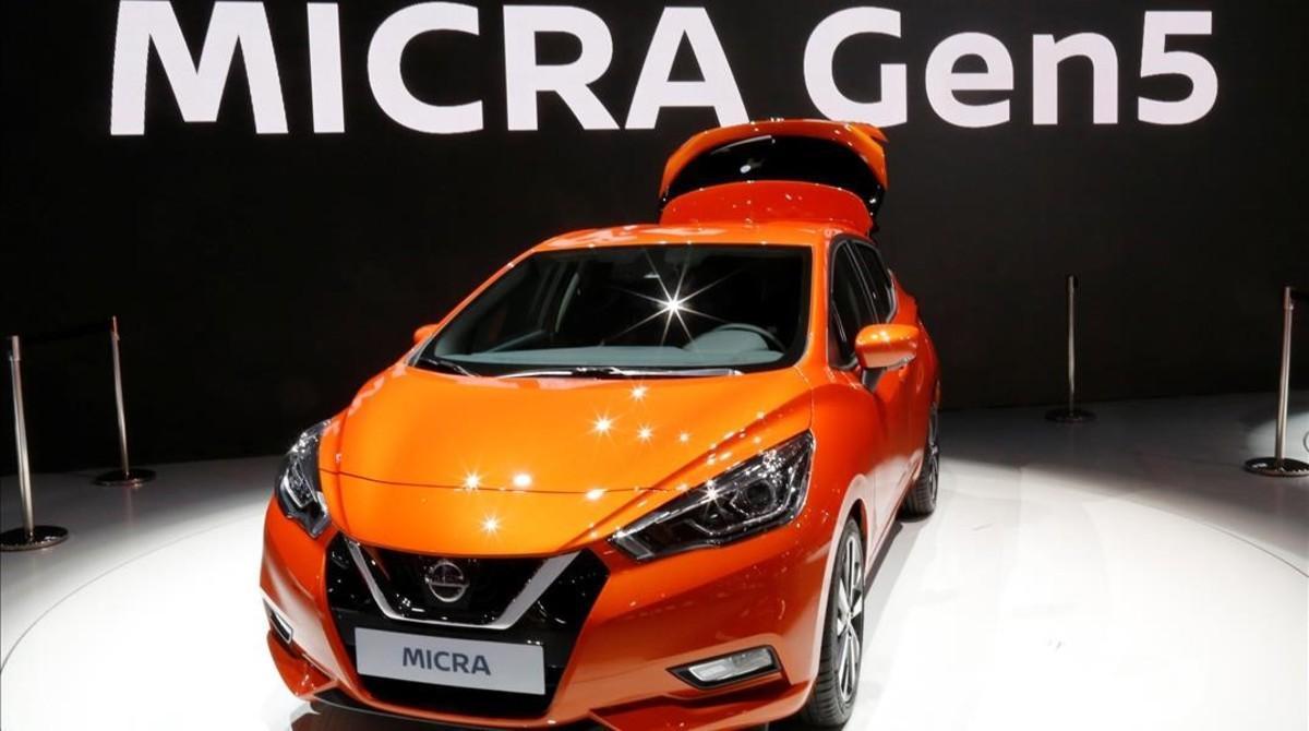 Nuevo Nissan Micra, en el Salón del Automóvil de París.