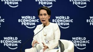 La dirigente birmana Aung San Suu Kyi .