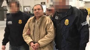 El narcotraficante mexicanoJoaquín Guzmán, 'El Chapo', tras ser detenido y extraditado a EEUU, el pasado mes de enero.