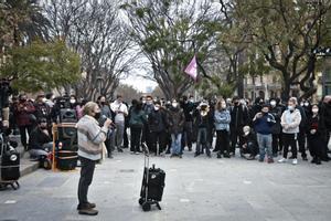 Declaraciones desde la prisión de Pablo Hasél al inicio de la manifestación