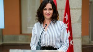 Isabel Díaz Ayuso, presidenta en funciones de la Comunidad de Madrid.