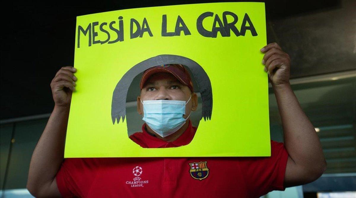 Un aficionado culé recibió así al padre de Leo Messi.