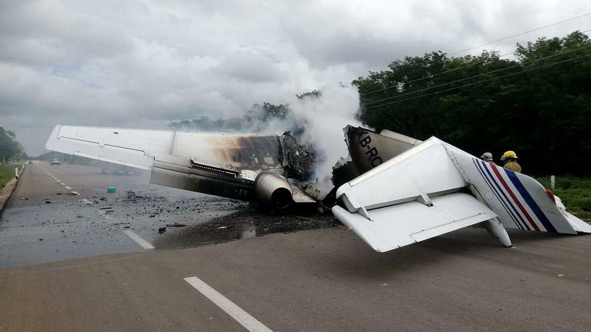 Un accidente de avioneta, en imagen de archivo.