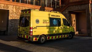 Ambulancia del Sistema d'Emergències Mèdiques en Barcelona.