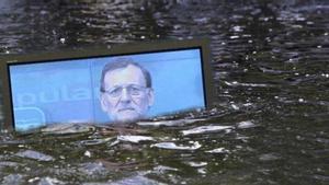 Un 'meme' alusivo a las comparecencias de Mariano Rajoy a través de televisión.
