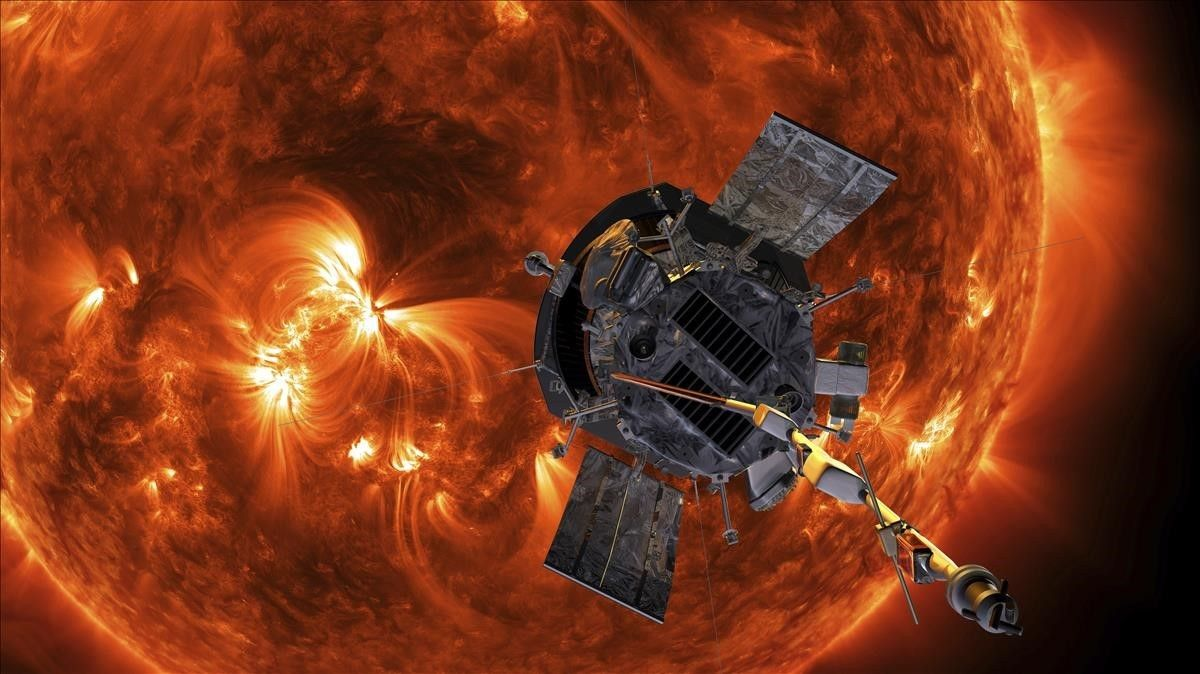 Recreación de la sonda 'Parker' acercándose al Sol.