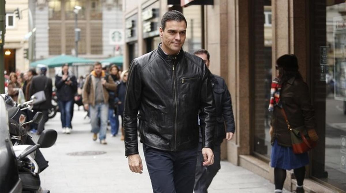 El secretario general del PSOE, Pedro Sánchez, este lunes en Madrid.