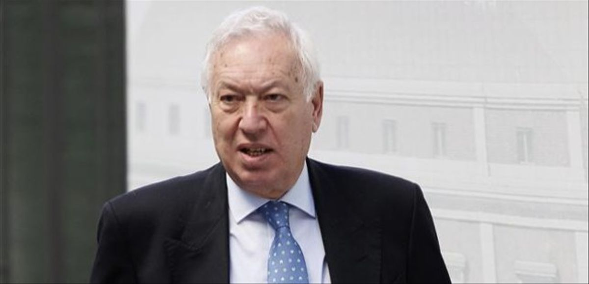 García Margallo, a su llegada al Congreso de Diputados, el 31 de octubre.