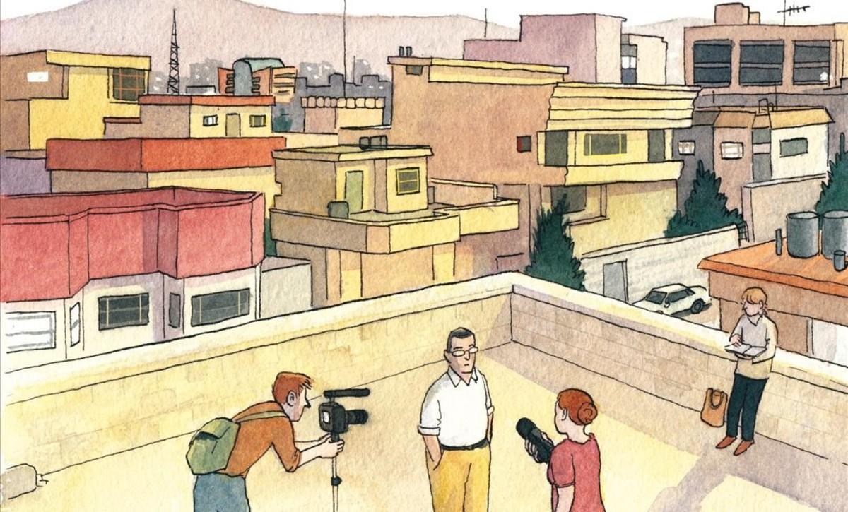 Fragmento de la portada del cómic de Sarah Glidden 'Oscuridades programadas'.