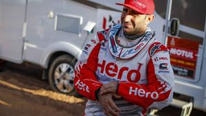 Paulo Gonçalves, durante el Dakar 2020.