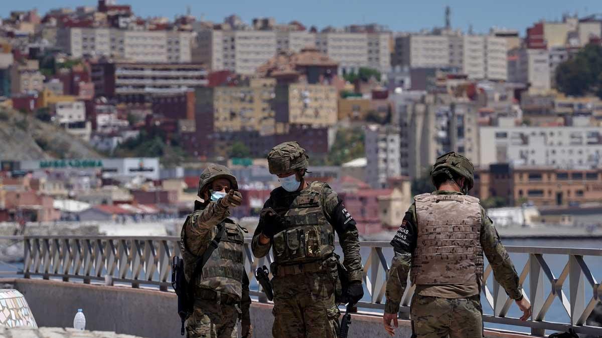 Militares españoles en Ceuta.