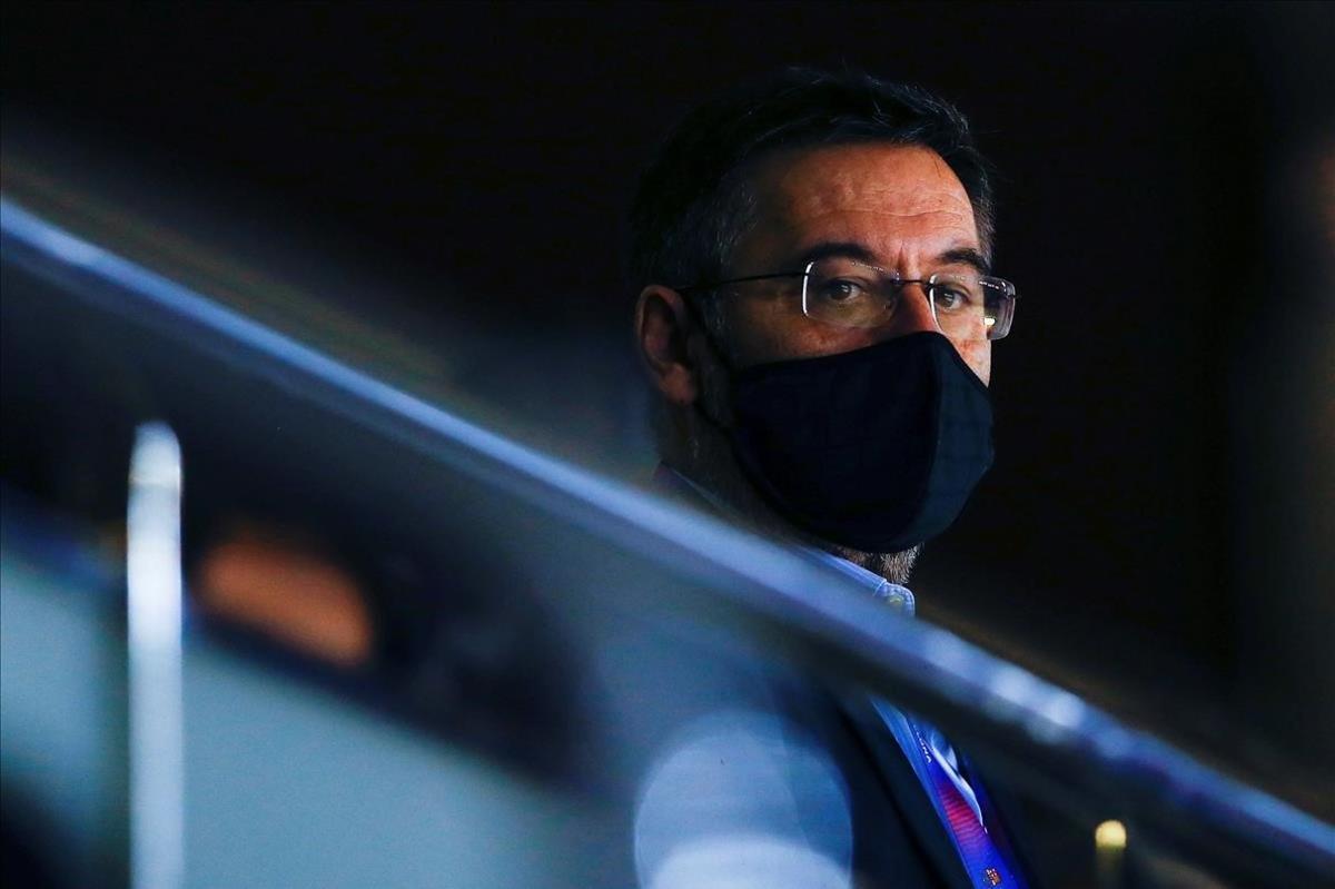 El presidente del Barça Josep María Bartomeu, esta pasada semana en el Palau