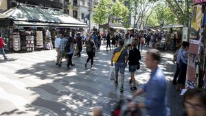 Imagen de la Rambla de Barcelona.