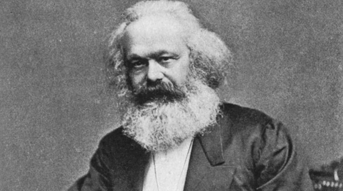 El pensador alemán Karl Marx (1818-1883).