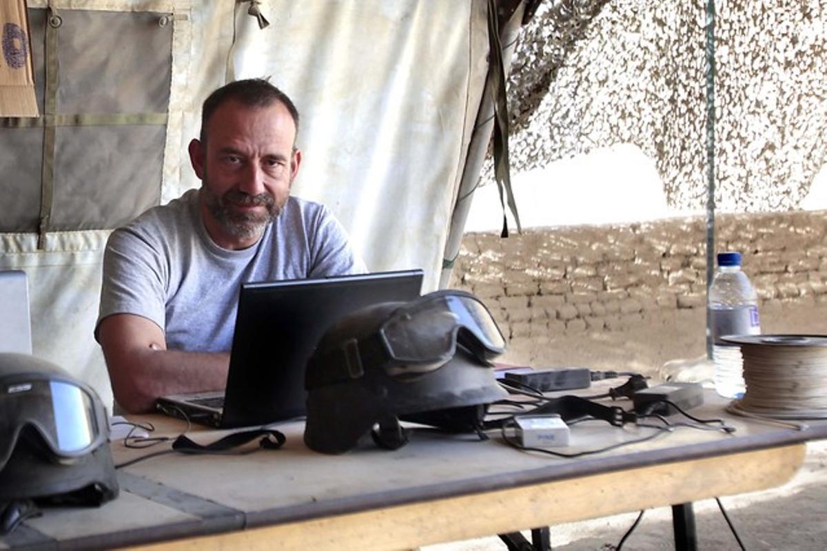 El periodista Marc Marginedas, en en la base canadiense de Patricia en Nakhonay, en Afganistán, en octubre del 2010.