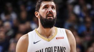 Nikola Mirotic en un partido de los Pelicans.