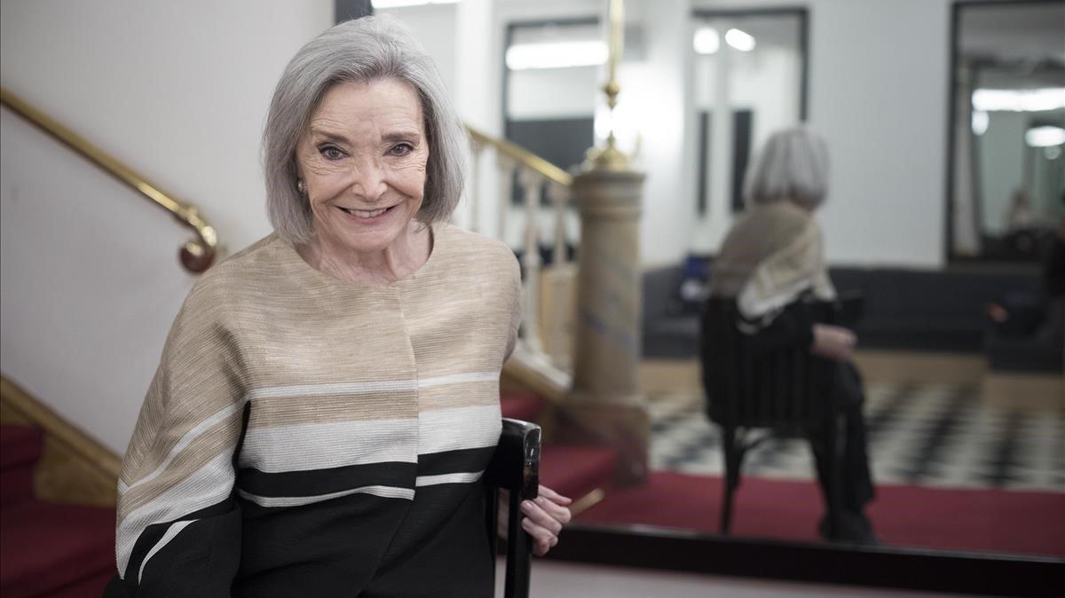 Núria Espert, en elRomea, donde empezó su carrera y en el que no actuaba desde hacía mucho tiempo.