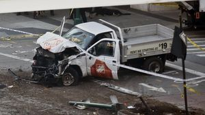 La furgoneta utilizada en el atentado.