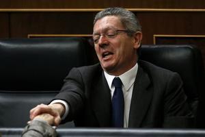 Alberto Ruiz-Gallardón, en su etapa como ministro de Justicia de Rajoy.