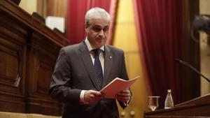 Germà Gordó, en el Parlament.