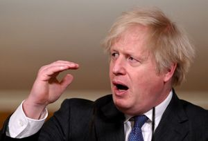El primer ministro británico, Boris Johnson, en la rueda de prensa que ha ofrecido este viernes.