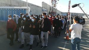 Salidade migrantes del muelle de Gran Canaria