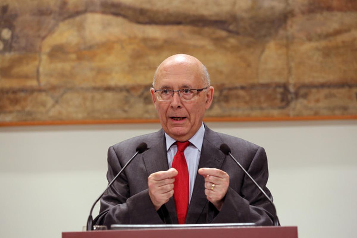 El expresidente del Parlament Joan Rigol.