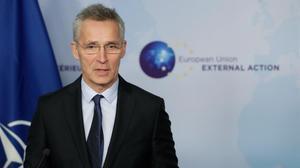Jens Stoltenberg, secretario general de la OTAN, el pasado lunes, en Bruselas.
