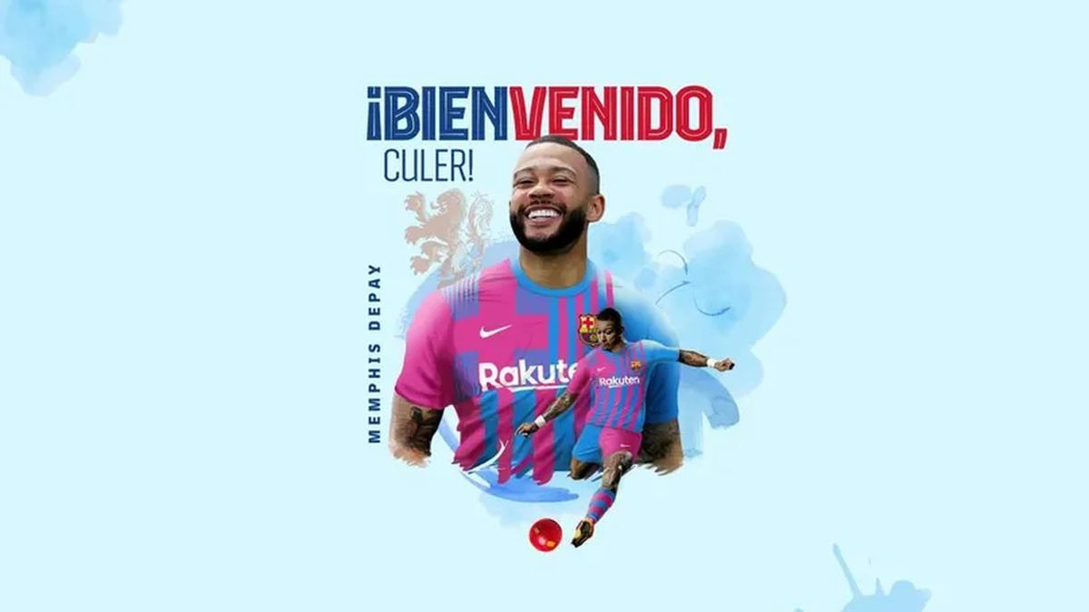 Memphis Depay, anunciado como nuevo jugador del Barça.