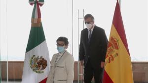 La ministra de Exteriores de España aborda en México estrategias contra COVID-19