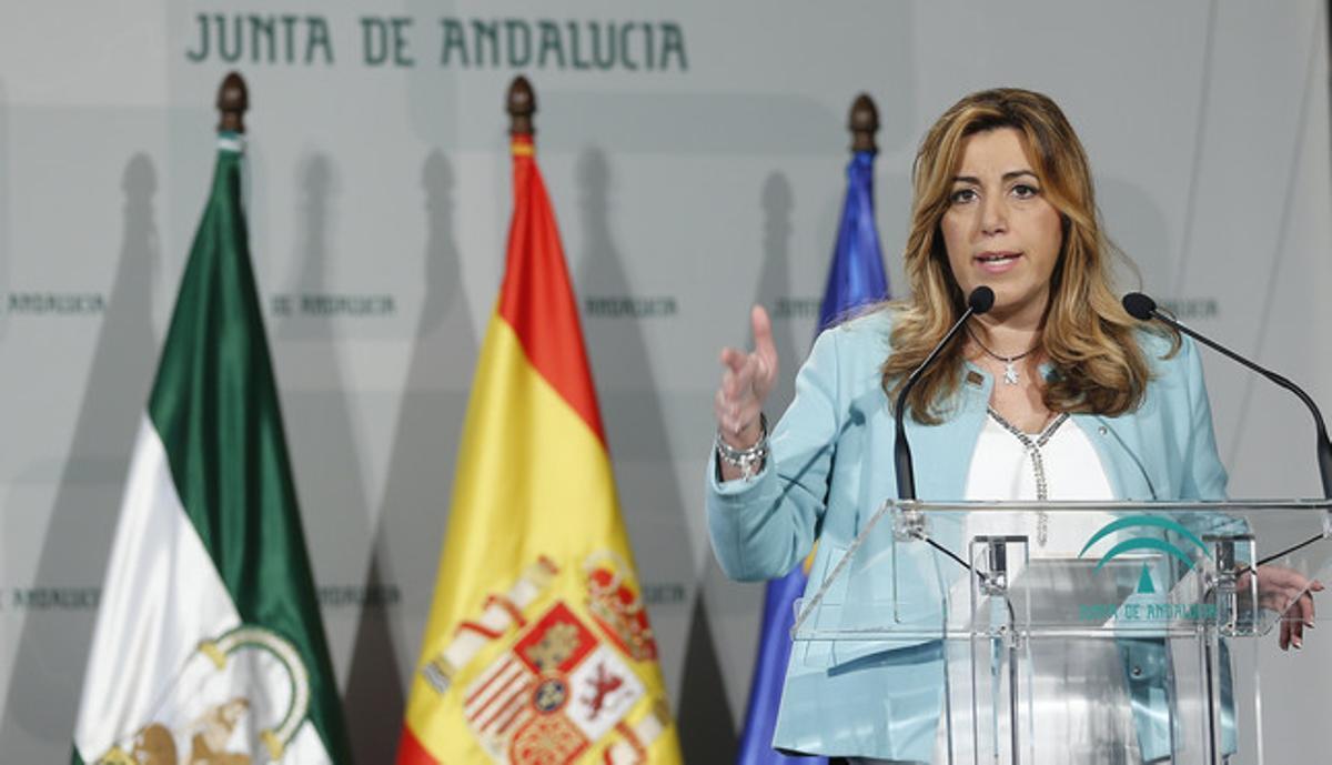 Susana Díaz, el pasado 17 de diciembre, en una entrega de premios de la Junta.