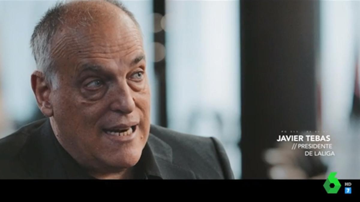 Javier Tebas en 'Salvados' (La Sexta).