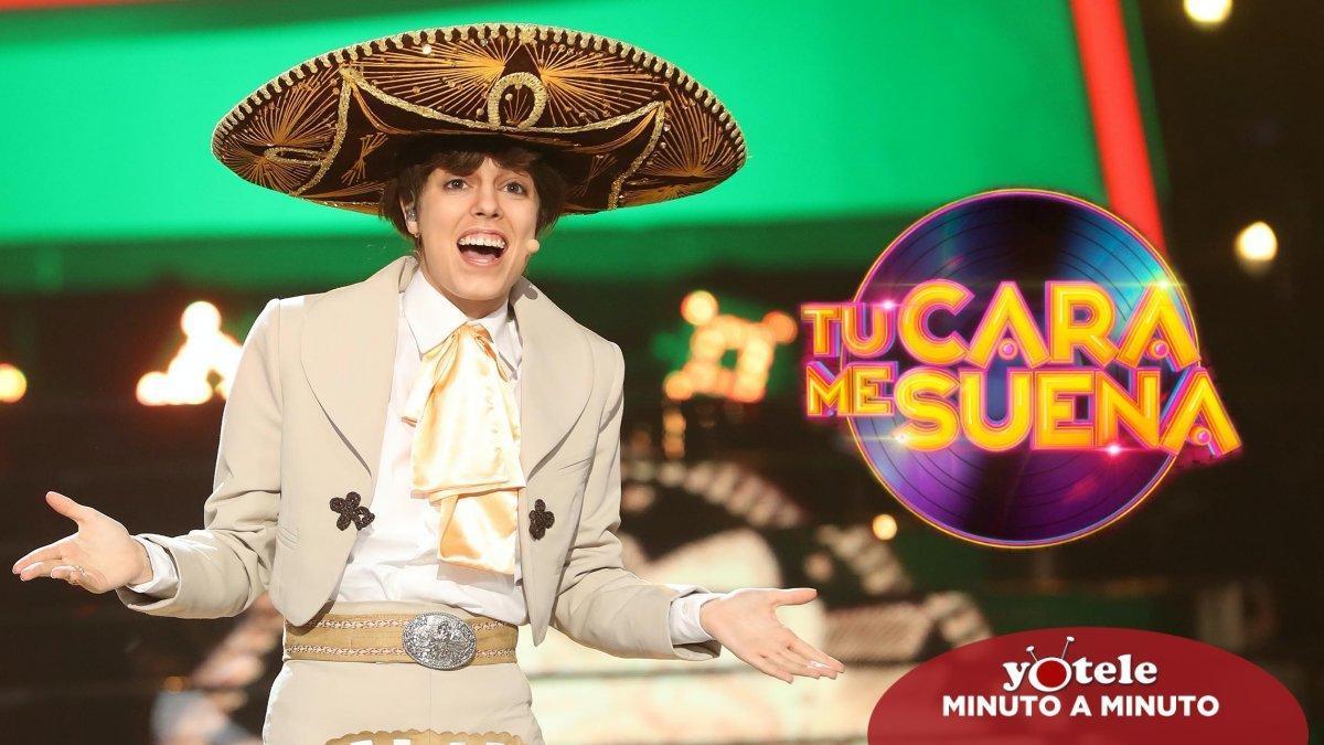 Nerea Rodríguez imitando a Pedrito Fernández en 'Tu cara me suena'.
